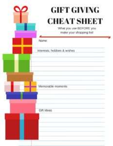 Giving the Perfect Present Guide for the Guy in Your Life with Free Printable Cheat Sheet #GiftsForYourGuy