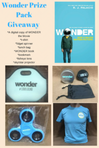 WONDER Movie Prize Pack Giveaway! #ChooseKind