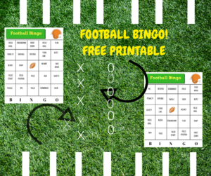 Game Day Greats! Free Printable Football Bingo, Word Search and Digital Decorations