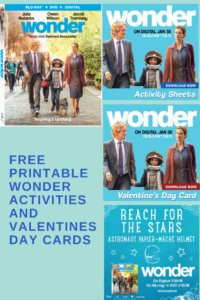 Free Printable Valentines' Day Cards and Activities Featuring Wonder Now On Blu-Ray and DVD #ChooseKind #WonderTheMovie